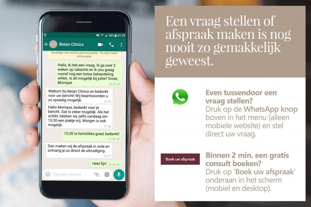 betan clinics whatsapp afspraak maken
